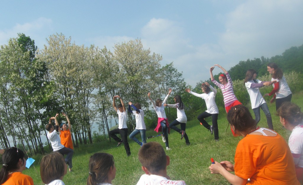 Teaching dance in a Northwest Bosnian village in 2011