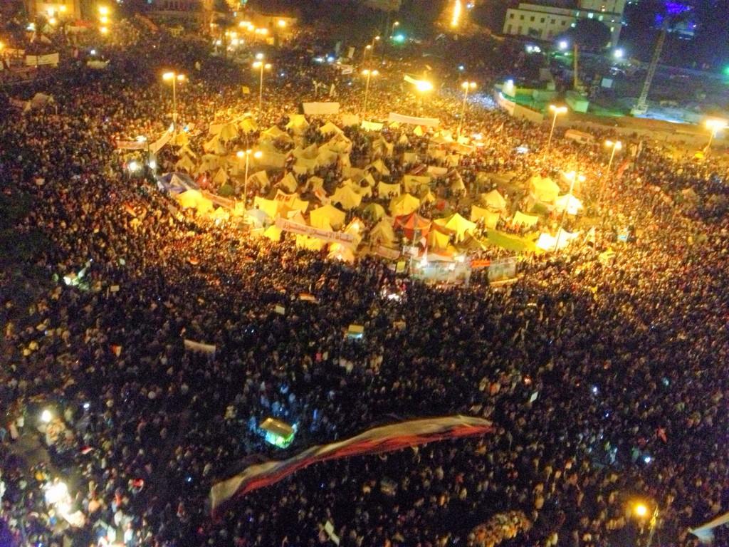 Liberal groups take over Tahrir Square. Cairo, Egypt. November 2012.
