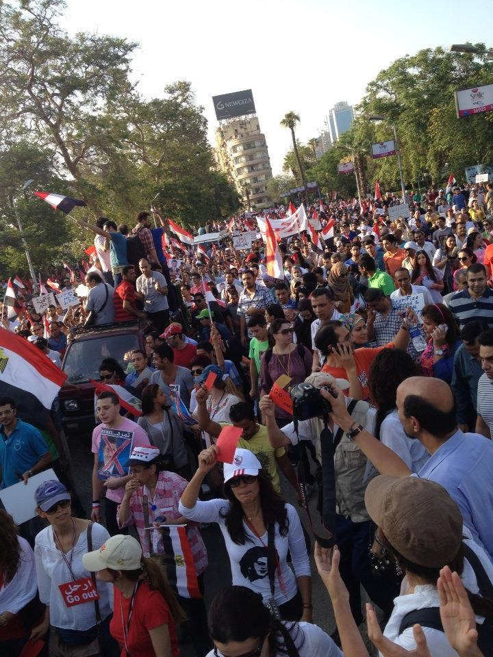 The march from the Ministry of Culture to Tahrir Square.