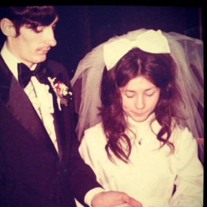 My mom and dad on their wedding day 41 years ago.