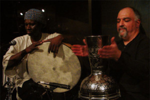 Michael Zerang and Hamid Drake