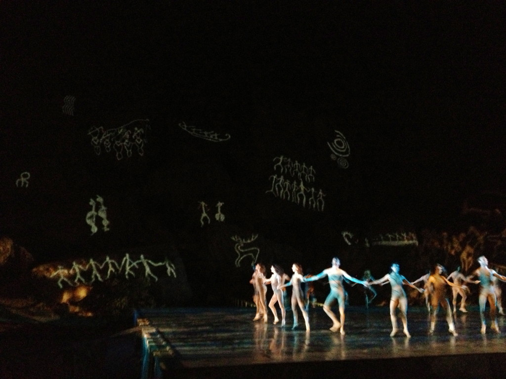 A limited run remount of a 1969 modern ballet production, site-specific on a mountain. UNESCO World Heritage Site.