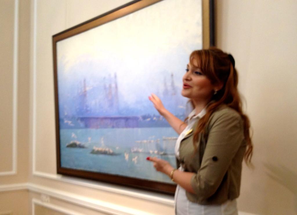 """""""The Caspian Sea in the Evening"""" oli on canvas 1959, Sattar Bahlulzade"""